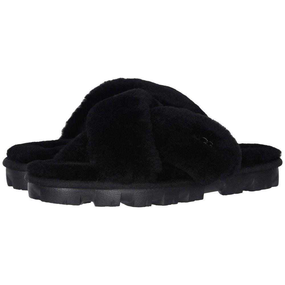 アグ UGG レディース サンダル・ミュール シューズ・靴【Fuzzette】Black
