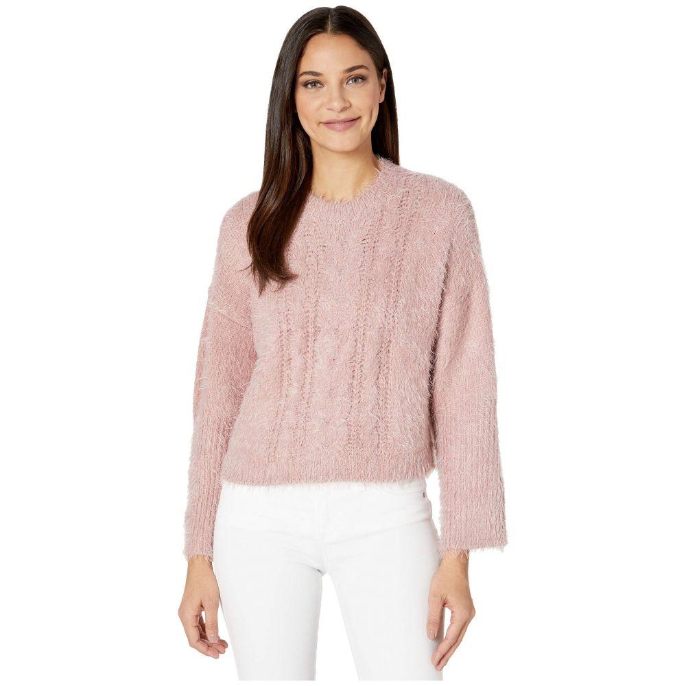 ビービーダコタ BB Dakota レディース ニット・セーター トップス【Feelin Lashy Eyelash Cable Knit Sweater】Rose Quartz