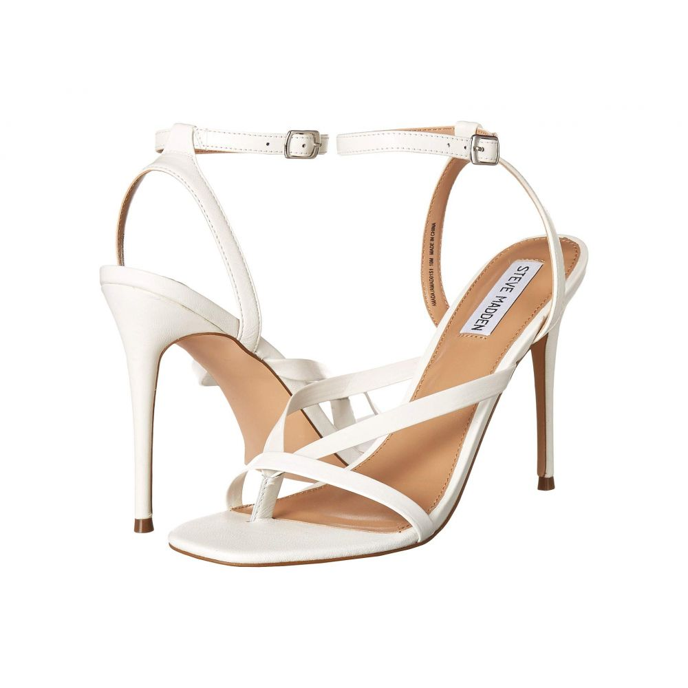スティーブ マデン Steve Madden レディース サンダル・ミュール シューズ・靴【Amada Heeled Sandal】White Leather