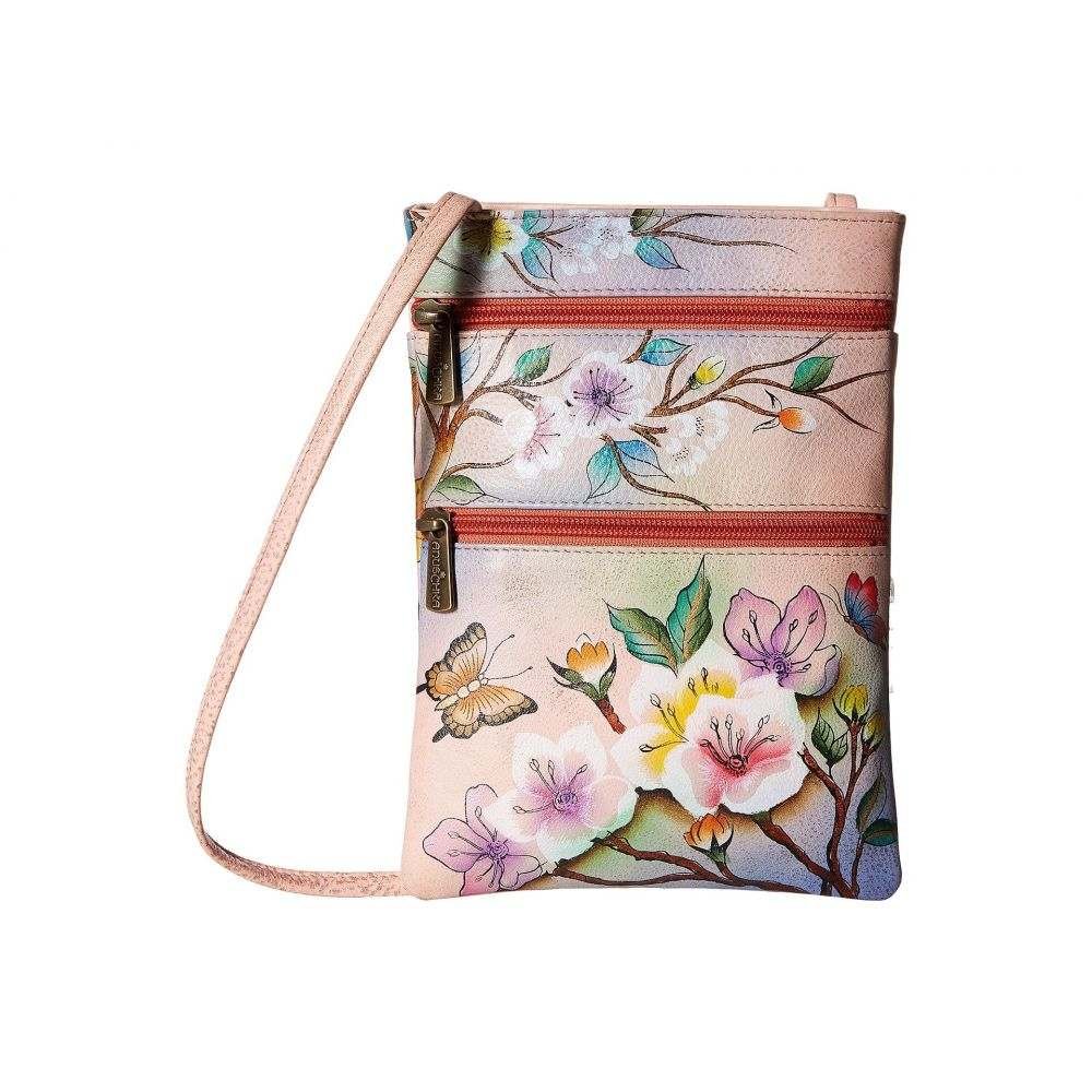 アヌシュカ Anuschka Handbags レディース ショルダーバッグ バッグ【448 Mini Double Zip Travel Crossbody】Japanese Garden