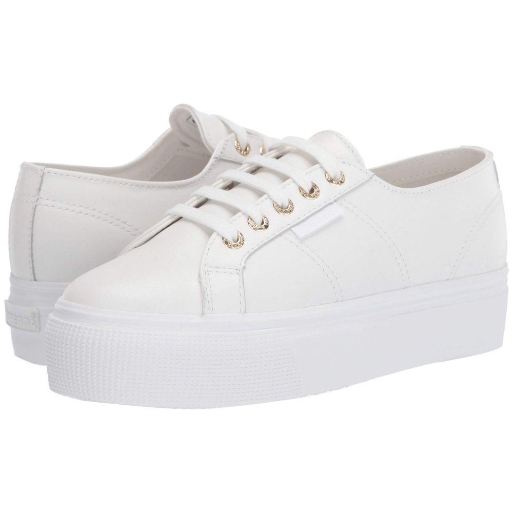 スペルガ Superga レディース スニーカー シューズ・靴【2790 Nappaleaw Sneaker】White/Gold