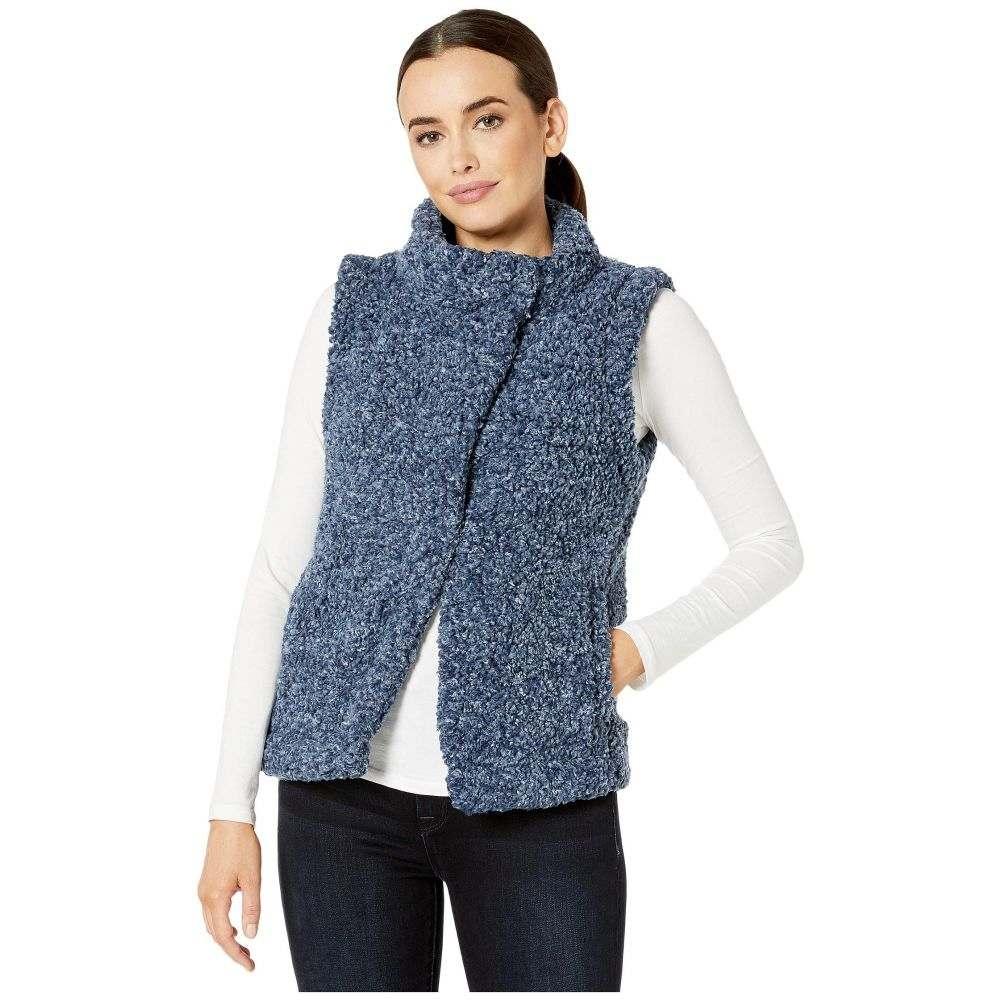 デイランバイトゥルーグリット Dylan by True Grit レディース ベスト・ジレ トップス【Faux-Shearling Pile Cozy Vest with Soft Knit Lining】Midnight