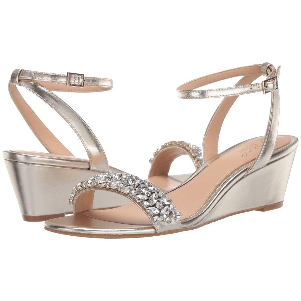 バッジェリー ミシュカ Jewel Badgley Mischka レディース サンダル・ミュール シューズ・靴【Bellevue】Light Gold
