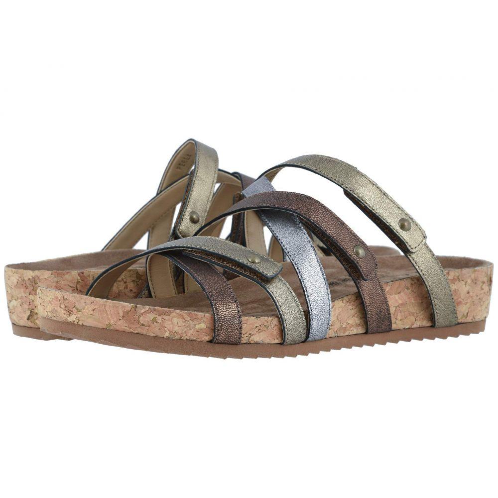 ウォーキング クレードル Walking Cradles レディース スリッポン・フラット シューズ・靴【Perla】Metallic Multi Leather/Cork Wrap