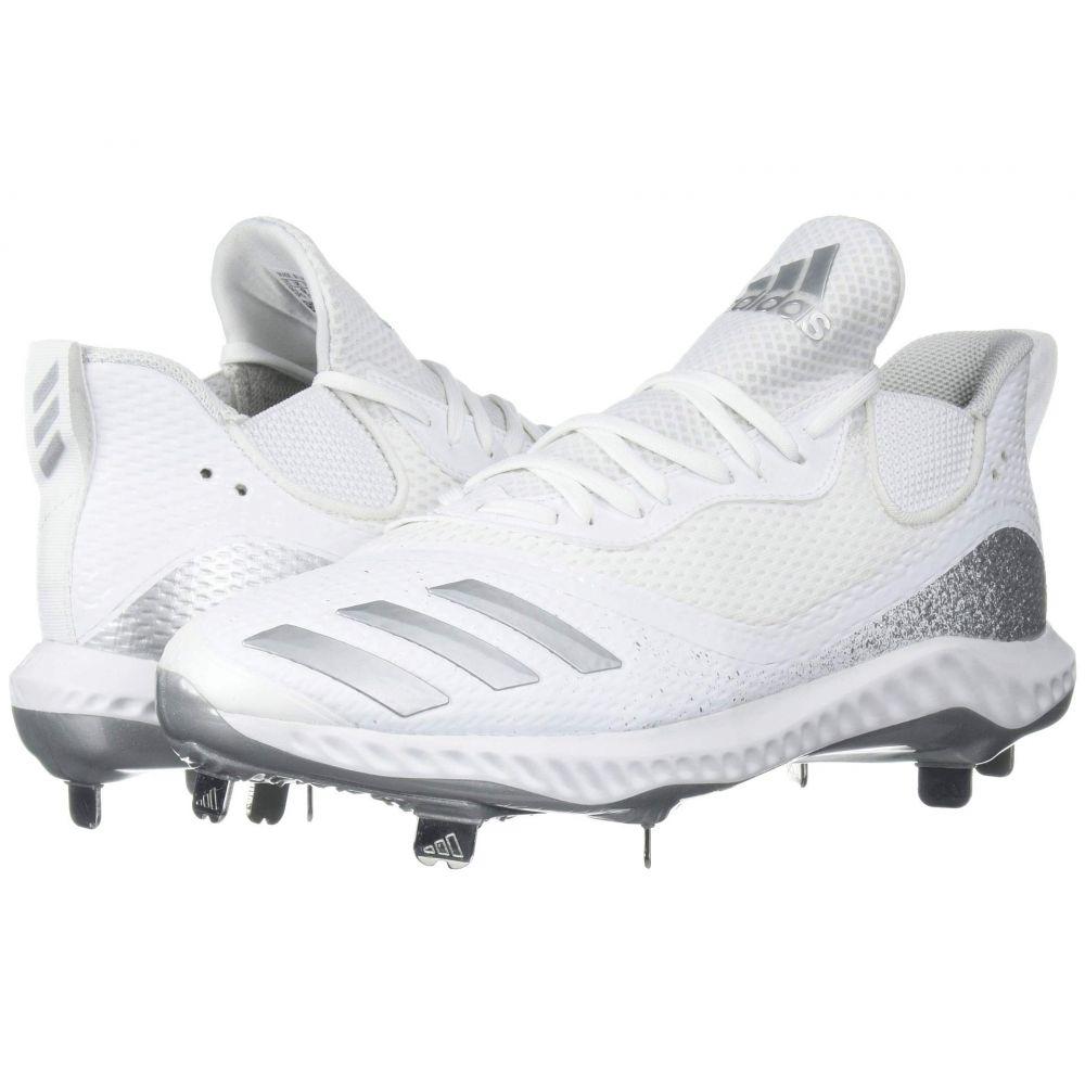 アディダス adidas メンズ 野球 シューズ・靴【Icon V Bounce】Footwear White/Silver Metallic/Footwear White