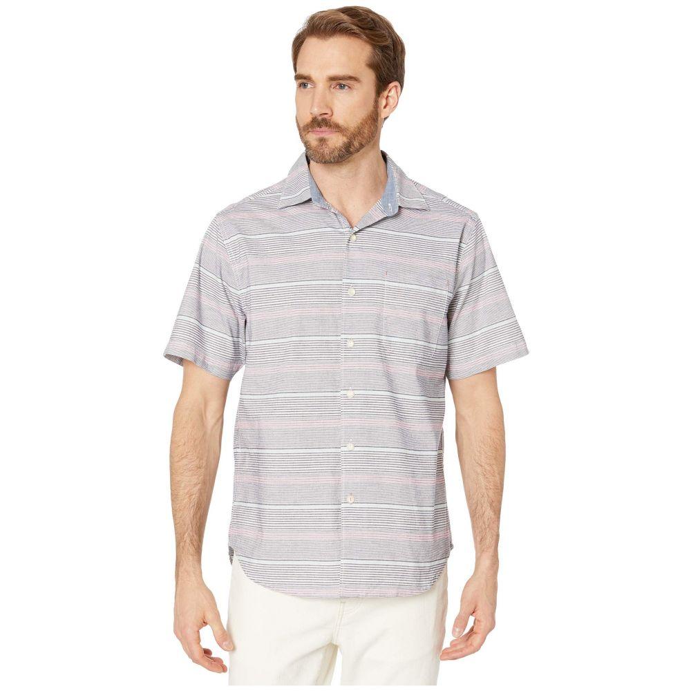 トミー バハマ Tommy Bahama メンズ 半袖シャツ トップス【Sri Lanka Stripe Short Sleeve Shirt】Island Navy