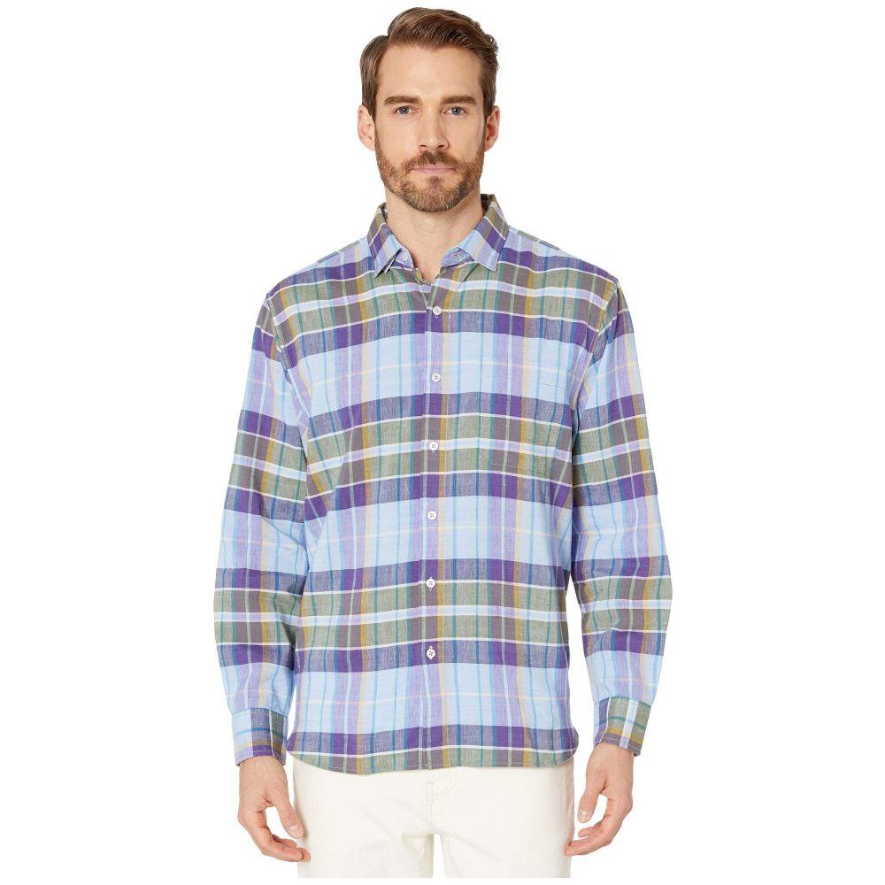 トミー バハマ Tommy Bahama メンズ シャツ トップス【Minar Madras Long Sleeve Shirt】Gentle Violet