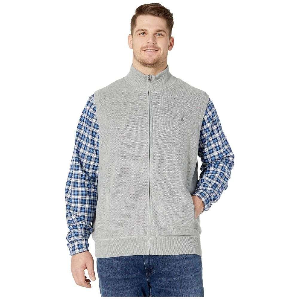 ラルフ ローレン Polo Ralph Lauren Big & Tall メンズ ベスト・ジレ 大きいサイズ トップス【Big & Tall Zip-Up Knit Vest】Andover Heather