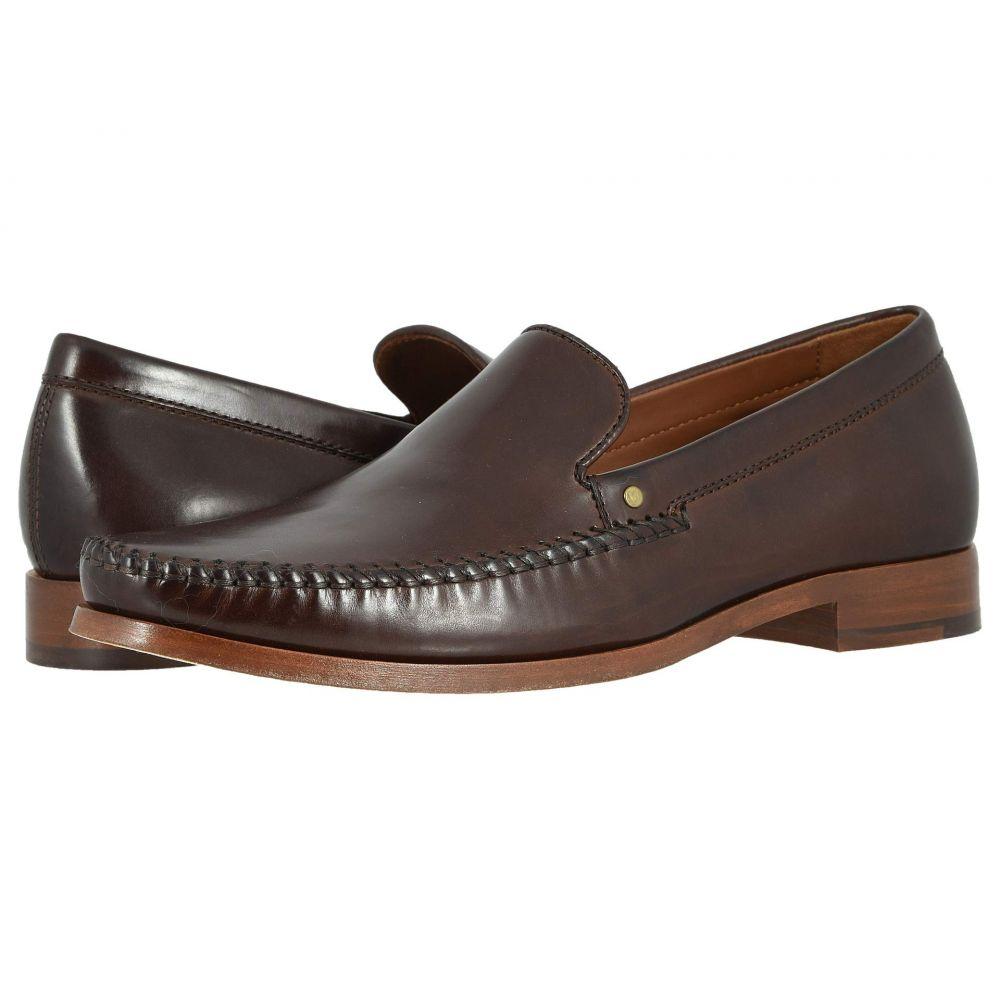 トラスク Trask メンズ ローファー シューズ・靴【Seth】Brown Italian Calfskin