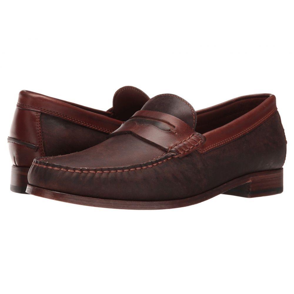 トラスク Trask メンズ ローファー シューズ・靴【Sadler】Brown Oiled Steer