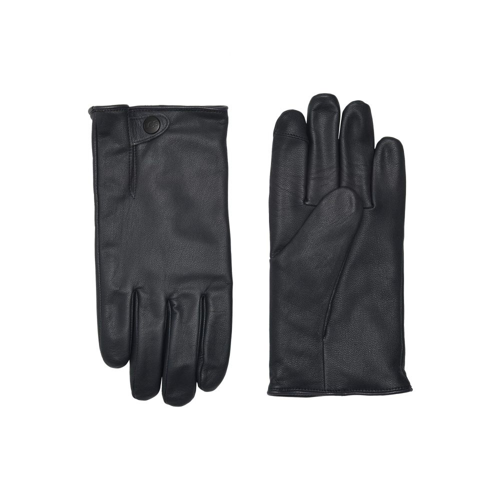 アグ UGG メンズ 手袋・グローブ 【Tabbed Splice Vent Leather Tech Gloves with Sherpa Lining】Navy