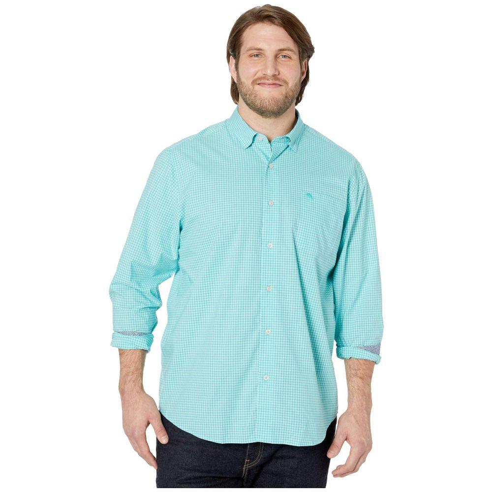 トミー バハマ Tommy Bahama Big & Tall メンズ シャツ トップス【Newport Coast Gingham Grove IslandZone Shirt】Aqua Aloha