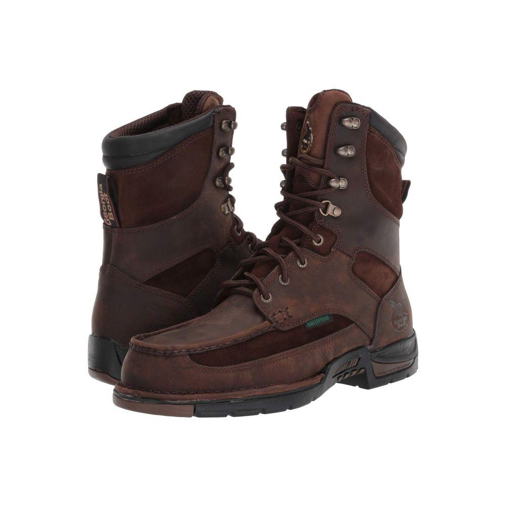 ジョージアブーツ Georgia Boot メンズ ブーツ モックトゥ シューズ・靴【Upland 8' Moc Toe Steel Toe】Brown