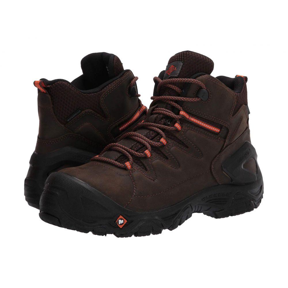 メレル Merrell Work メンズ ブーツ シューズ・靴【Strongfield Leather 6' Waterproof Composite Toe】Espresso