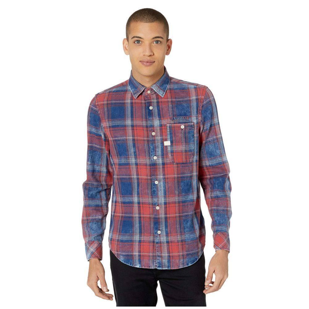 ジースター ロゥ G-Star メンズ シャツ トップス【Bristum One-Pocket Slim Shirt】Indigo/Antic Red Check