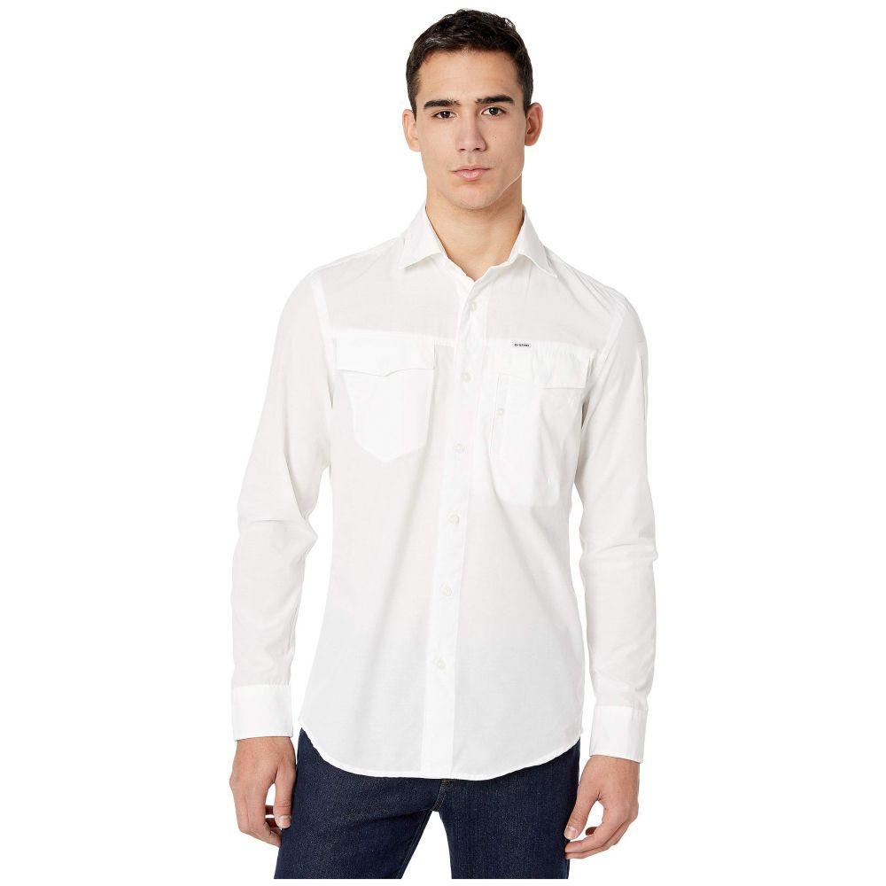 ジースター ロゥ G-Star メンズ シャツ トップス【Citishield Slim Shirt Long Sleeve】White
