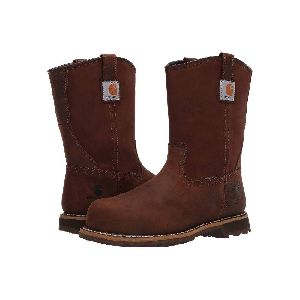カーハート Carhartt メンズ ブーツ シューズ・靴【Traditional 10' Pull-On Waterproof Nano Toe】Bison Brown Oil Tan