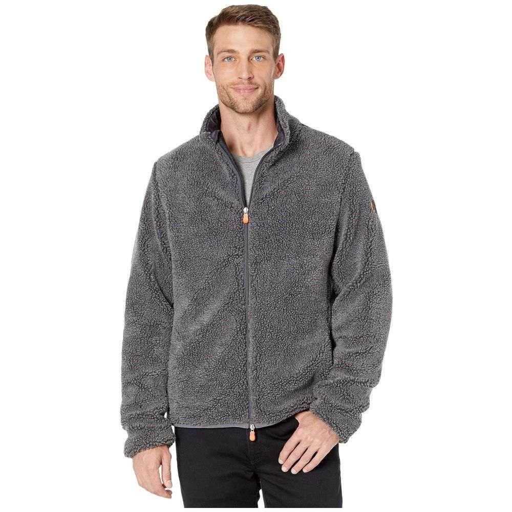 セイブ ザ ダック Save the Duck メンズ フリース トップス【Bear 9 Faux Sherpa Jacket】Charcoal Grey