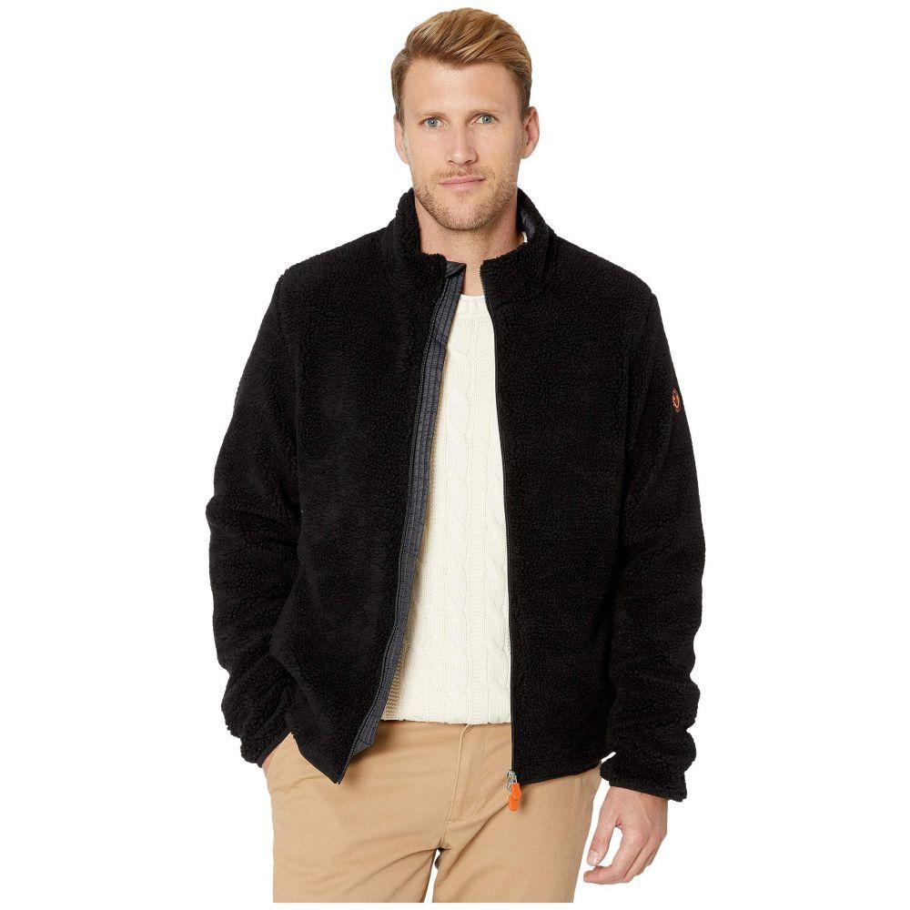 セイブ ザ ダック Save the Duck メンズ フリース トップス【Bear 9 Faux Sherpa Jacket】Black