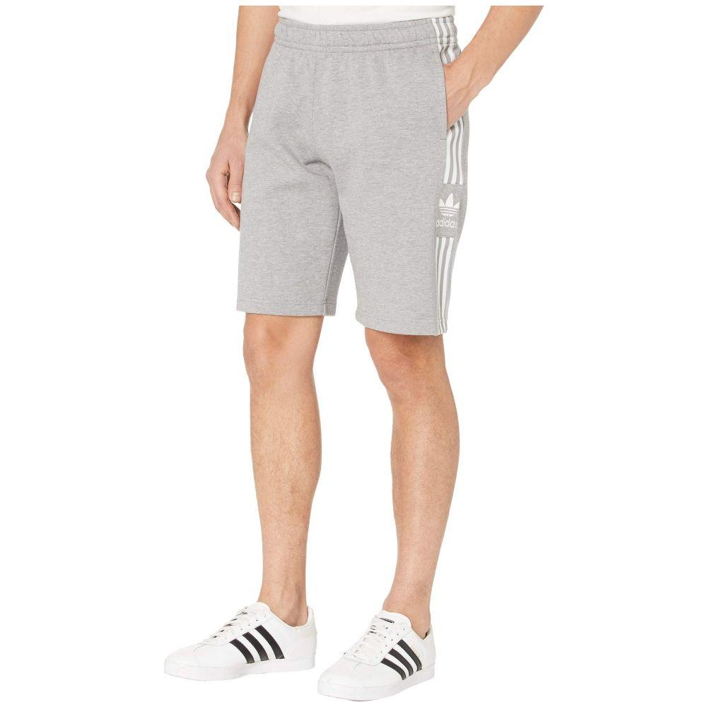 アディダス adidas Originals メンズ ショートパンツ ボトムス・パンツ【Lock-Up Logo Long Shorts】Medium Grey Heather