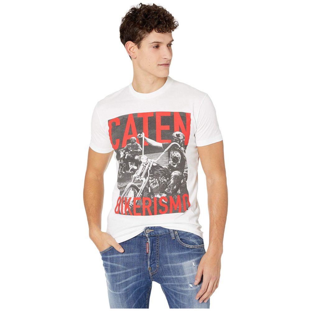 ディースクエアード DSQUARED2 メンズ Tシャツ トップス【Moto Riders Jersey T-Shirt】White