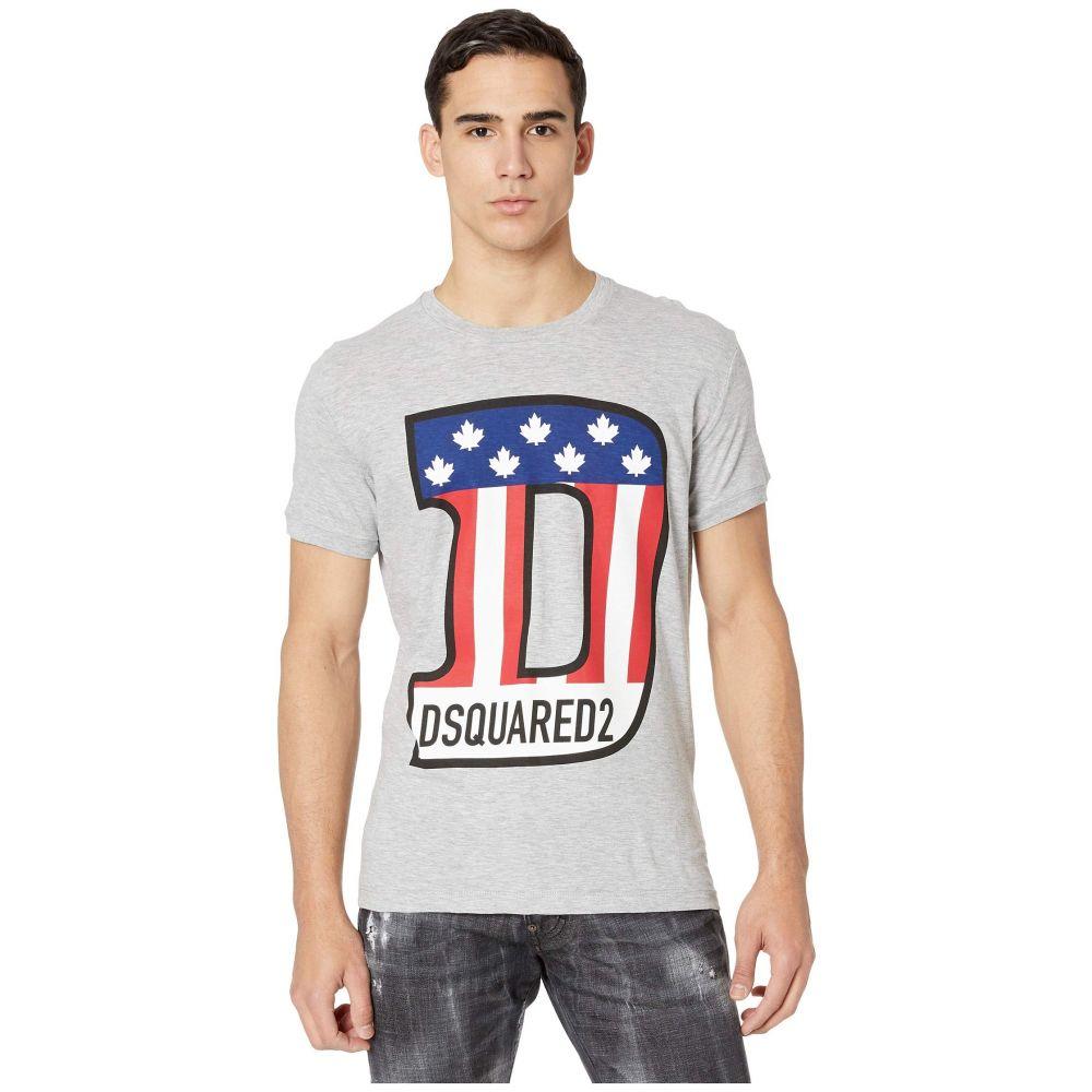 ディースクエアード DSQUARED2 メンズ Tシャツ トップス【T-Shirt S74GD0671】Grey Melange