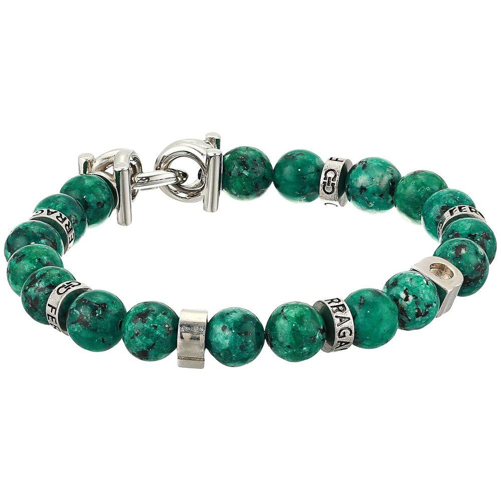 サルヴァトーレ フェラガモ Salvatore Ferragamo メンズ ブレスレット ジュエリー・アクセサリー【Beaded Stretch Bracelet】Green