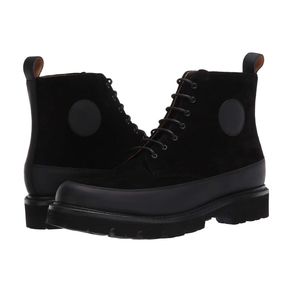 グレンソン Grenson メンズ ブーツ シューズ・靴【Anton Boot】Black Rubberised/Black Suede