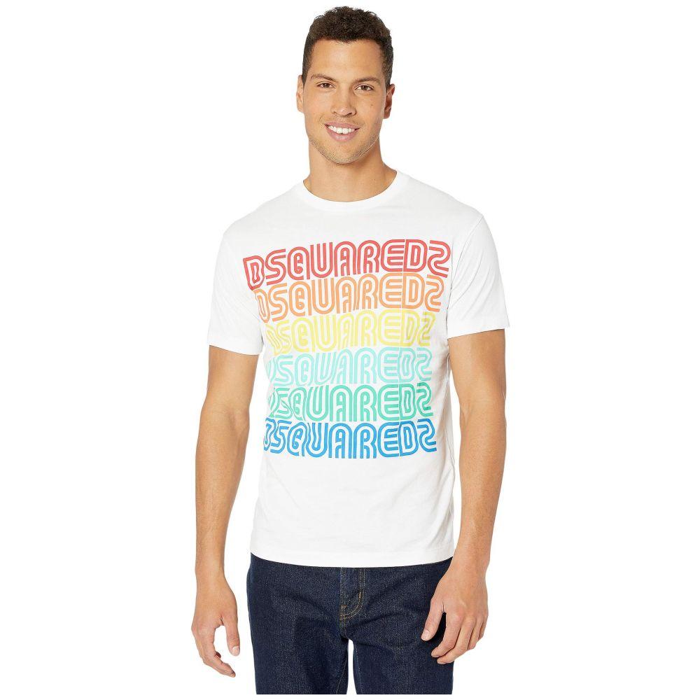 ディースクエアード DSQUARED2 メンズ Tシャツ トップス【Repeat Logo T-Shirt】White