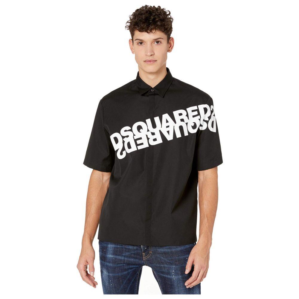 ディースクエアード DSQUARED2 メンズ シャツ トップス【Mirrored Logo Print Shirt】Black