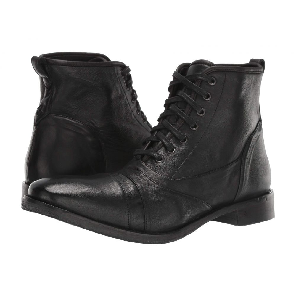 ジョン バルベイトス John Varvatos Collection メンズ ブーツ シューズ・靴【Fleetwood Lace Boot】Black