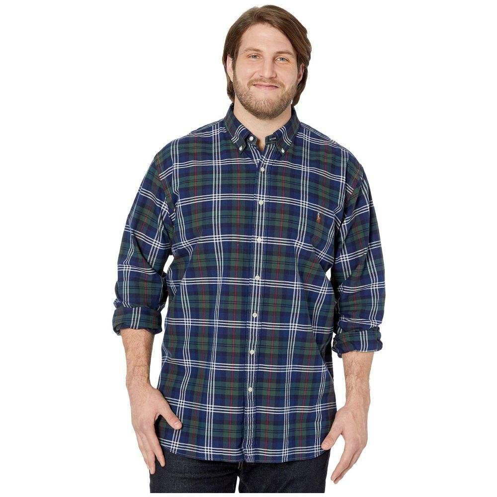 ラルフ ローレン Polo Ralph Lauren Big & Tall メンズ シャツ 大きいサイズ トップス【Big & Tall Long Sleeve Oxford - Classic】Hunter Green/Navy Multi