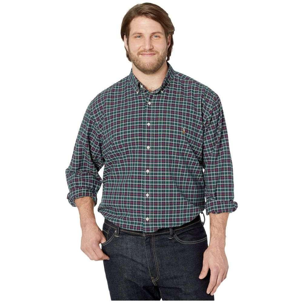 ラルフ ローレン Polo Ralph Lauren Big & Tall メンズ シャツ 大きいサイズ トップス【Big & Tall Long Sleeve Oxford - Classic】Hunter Green/Red