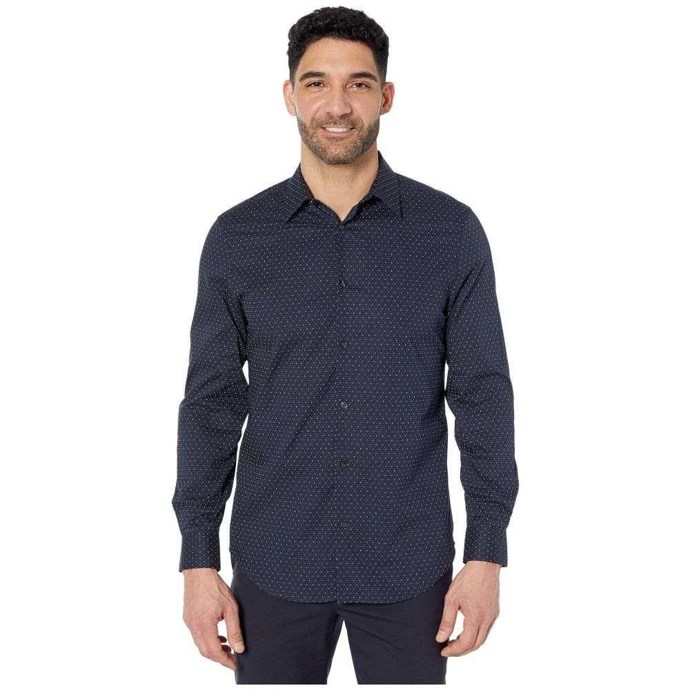 ペリー エリス Perry Ellis メンズ シャツ トップス【Regular Fit Stretch Printed Shirt】Dark Sapphire