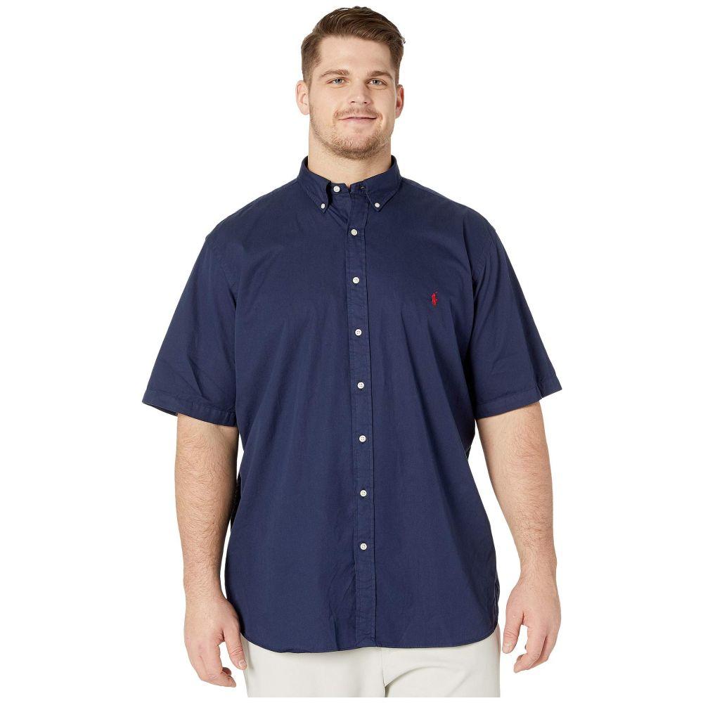 ラルフ ローレン Polo Ralph Lauren Big & Tall メンズ 半袖シャツ 大きいサイズ トップス【Big & Tall Short Sleeve Garment Dyed Chino Shirt】Navy