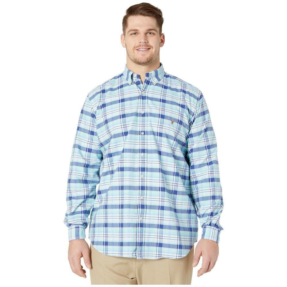 ラルフ ローレン Polo Ralph Lauren Big & Tall メンズ シャツ 大きいサイズ トップス【Big & Tall Long Sleeve Classic Fit Oxford Shirt】Spring Green/Blue Multi