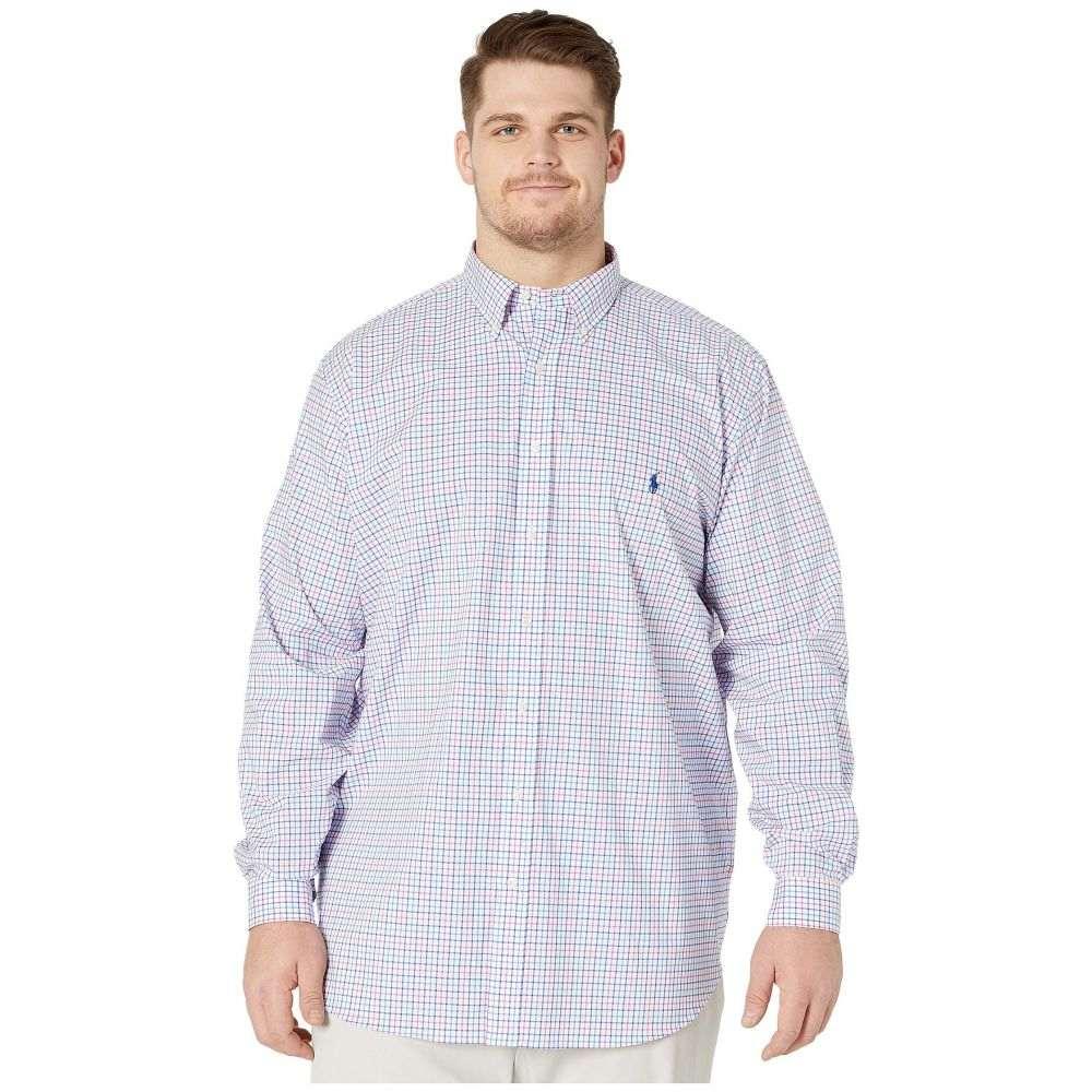 ラルフ ローレン Polo Ralph Lauren Big & Tall メンズ シャツ 大きいサイズ トップス【Big & Tall Long Sleeve Poplin】Pink/Blue Multi