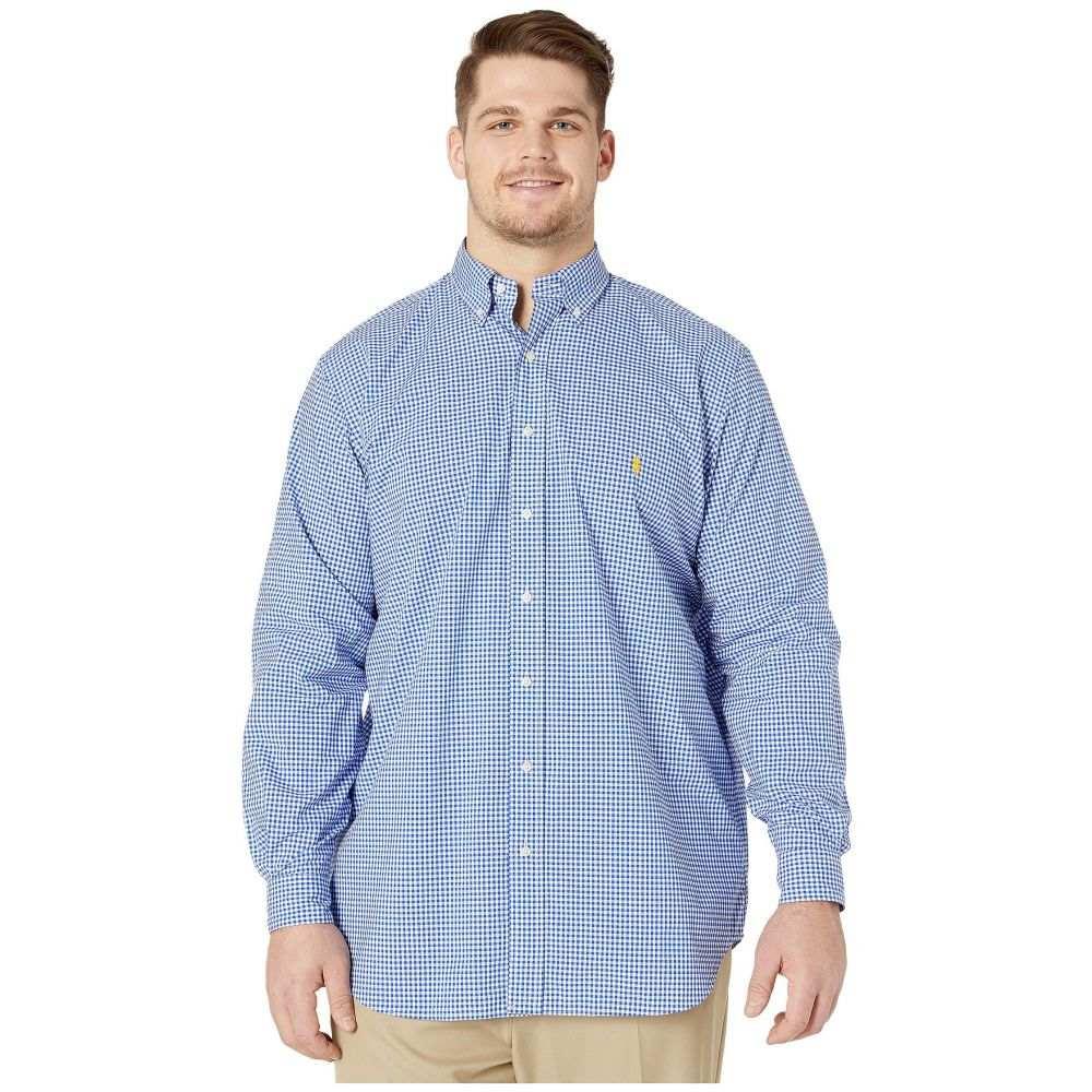 ラルフ ローレン Polo Ralph Lauren Big & Tall メンズ シャツ 大きいサイズ トップス【Big & Tall Long Sleeve Poplin】Blue/White
