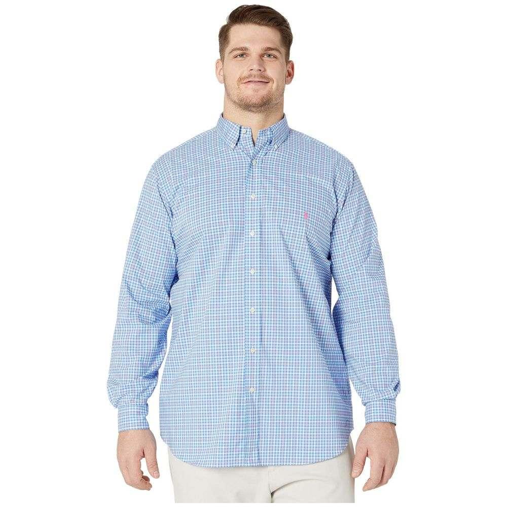 ラルフ ローレン Polo Ralph Lauren Big & Tall メンズ シャツ 大きいサイズ トップス【Big & Tall Long Sleeve Poplin】Aerial Blue/Pink Multi
