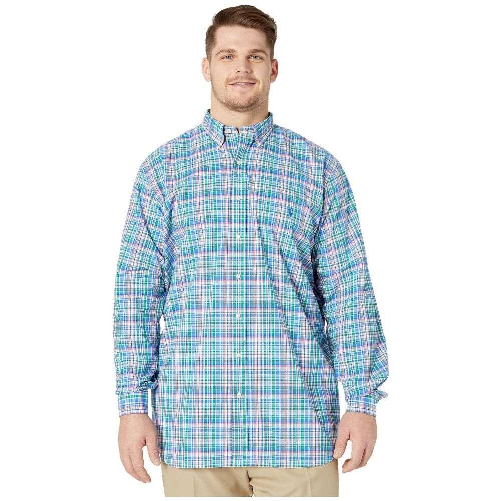 ラルフ ローレン Polo Ralph Lauren Big & Tall メンズ シャツ 大きいサイズ トップス【Big & Tall Long Sleeve Poplin】Blue/Pink Multi