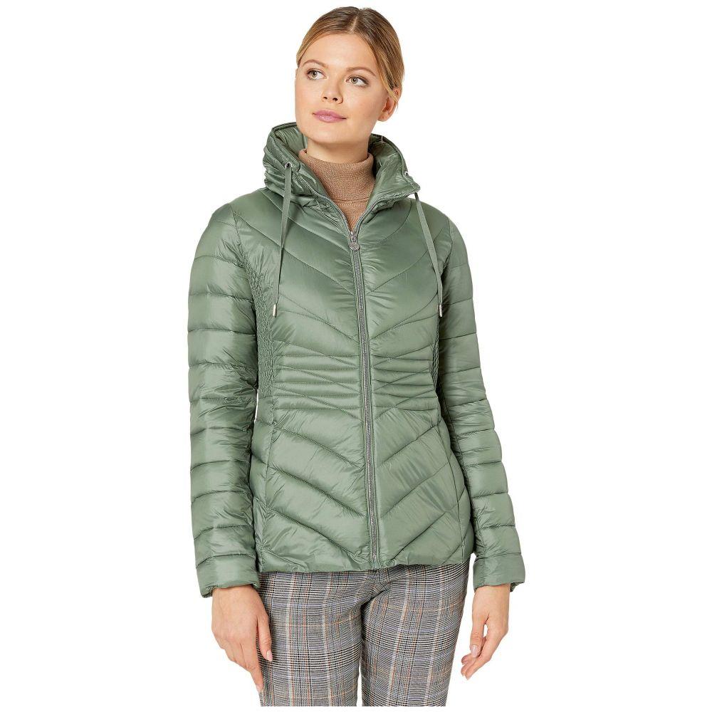 ベルナルド ファッションズ Bernardo Fashions レディース ダウン・中綿ジャケット アウター【EcoPlume Packable Chevron Puffer Jacket】Miss Basil Green