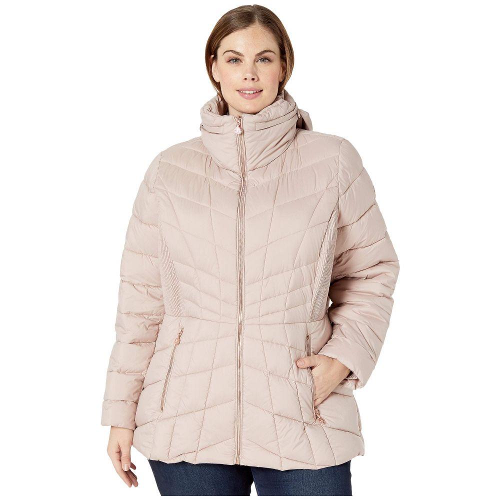 ベルナルド ファッションズ Bernardo Fashions レディース ダウン・中綿ジャケット 大きいサイズ アウター【Plus Size EcoPlume Packable Puffer Jacket】Petal Pink