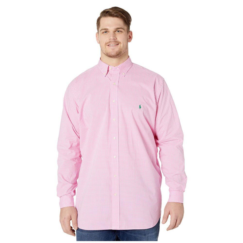 ラルフ ローレン Polo Ralph Lauren Big & Tall メンズ シャツ 大きいサイズ トップス【Big & Tall Long Sleeve Poplin】Pink/White