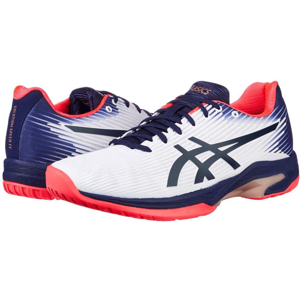 アシックス ASICS レディース テニス シューズ・靴【Solution Speed FF】White/Peacoat