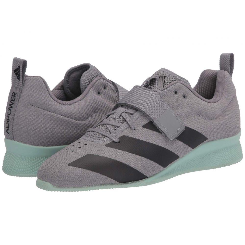 アディダス adidas メンズ スニーカー シューズ・靴【Adipower Weightlifting II】Grey Three/Core Black/Green Tint