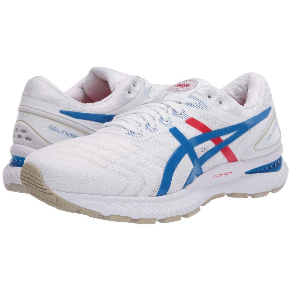 アシックス ASICS メンズ ランニング・ウォーキング シューズ・靴【GEL-Nimbus 22】White/Electric Blue