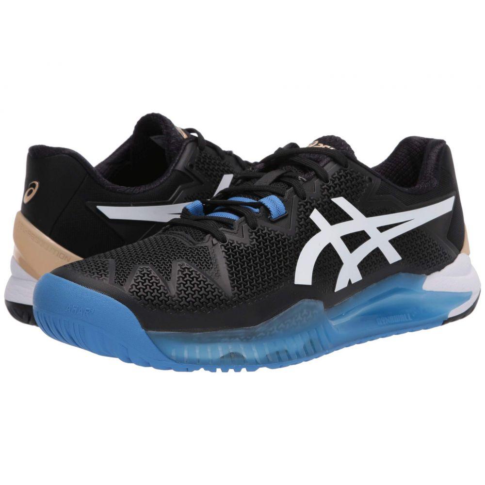 アシックス ASICS メンズ テニス シューズ・靴【Gel-Resolution 8】Black/White