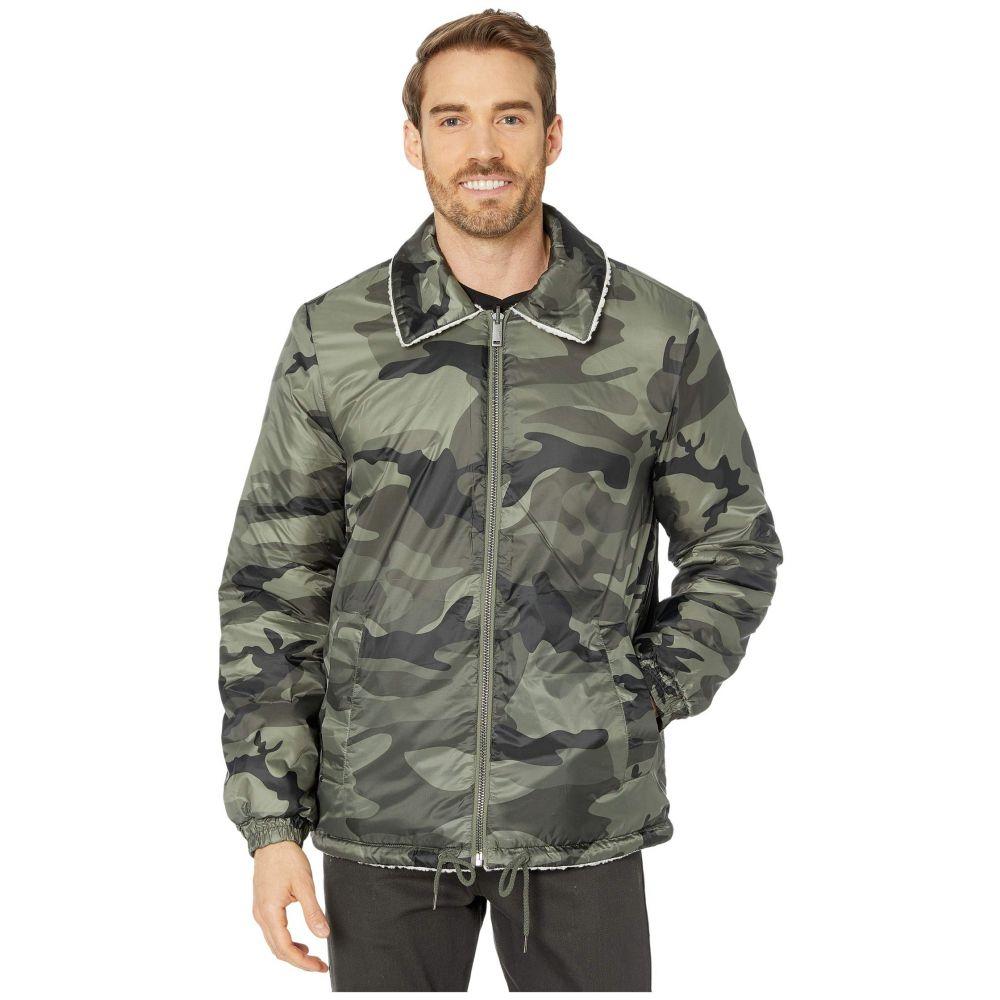 アグ UGG メンズ ジャケット アウター【Mace Reversible Faux-Sherpa Jacket】Green Camo