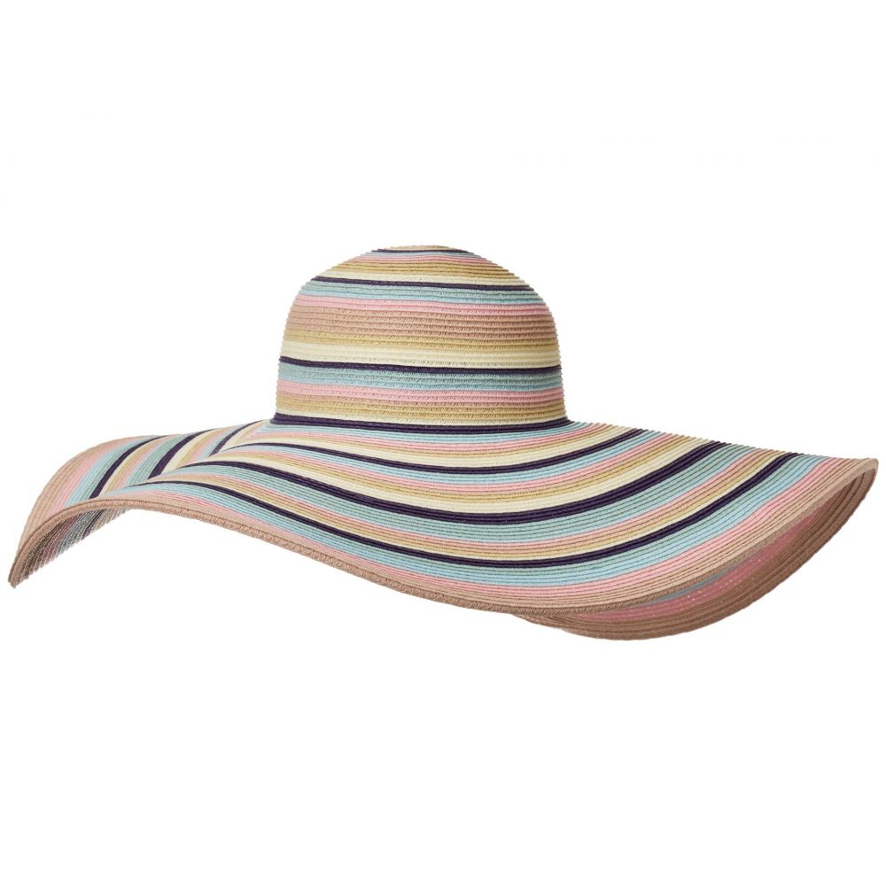 サンディエゴハット San Diego Hat Company レディース ハット ブリムハット サンハット 帽子【UBX2721 Striped Floppy 8 Inch Brim Sun Hat】Pastel