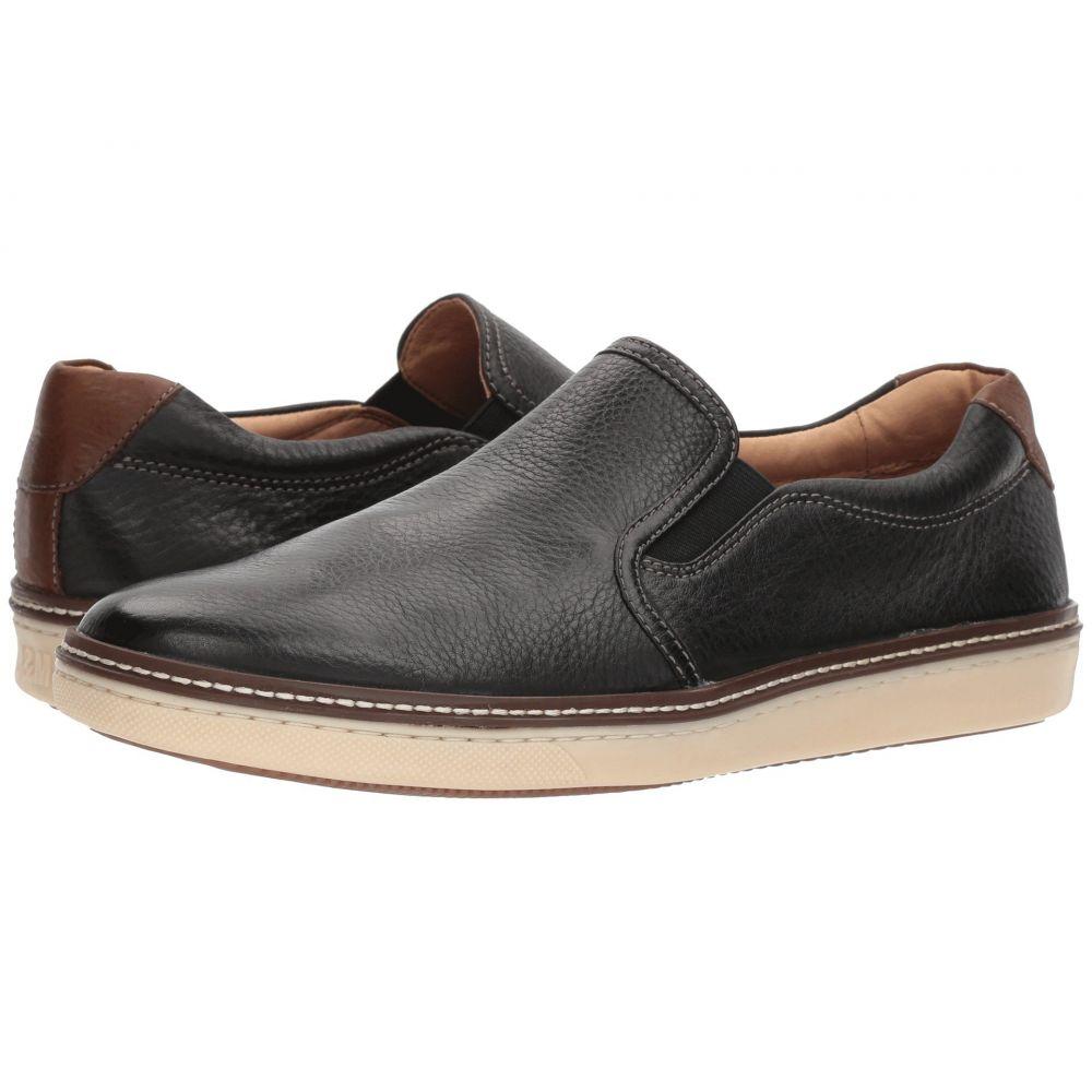 ジョンストン&マーフィー Johnston & Murphy メンズ スリッポン・フラット スニーカー シューズ・靴【McGuffey Casual Slip-on Sneaker】Black Full Grain
